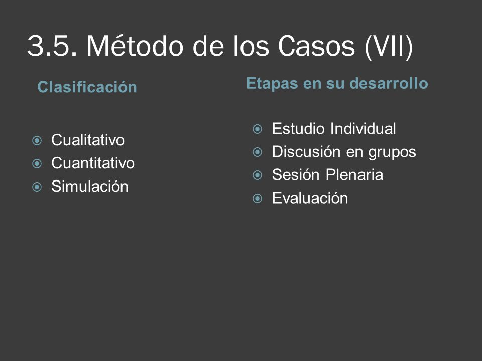 3.5. Método de los Casos (VII)