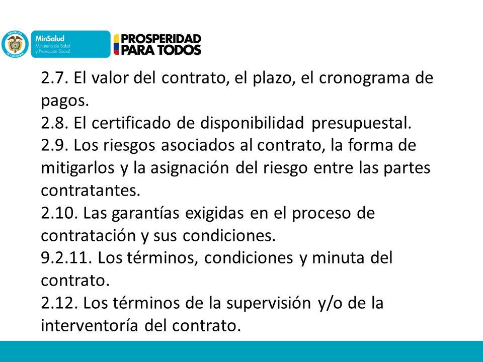 Lineamientos contratacion empresas sociales del estado for Cronograma de pagos ministerio del interior