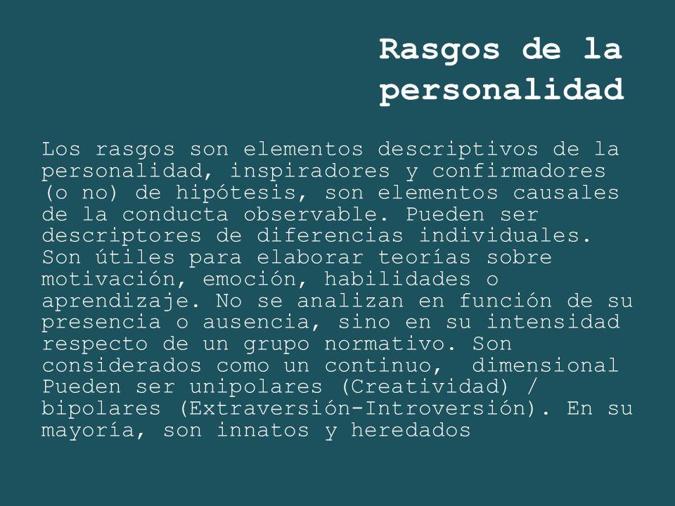 Rasgos de la personalidad