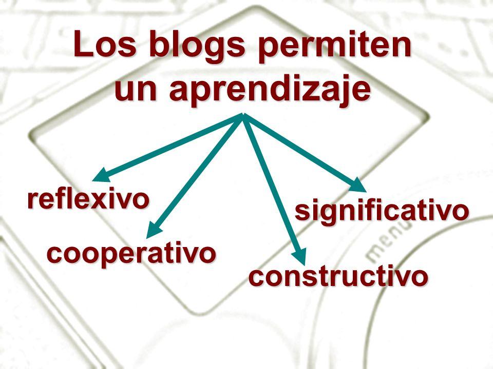 Los blogs permiten un aprendizaje