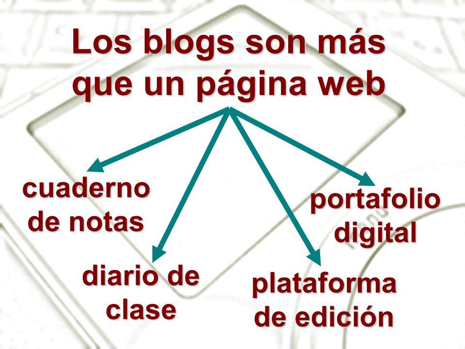 Los blogs son más que un página web