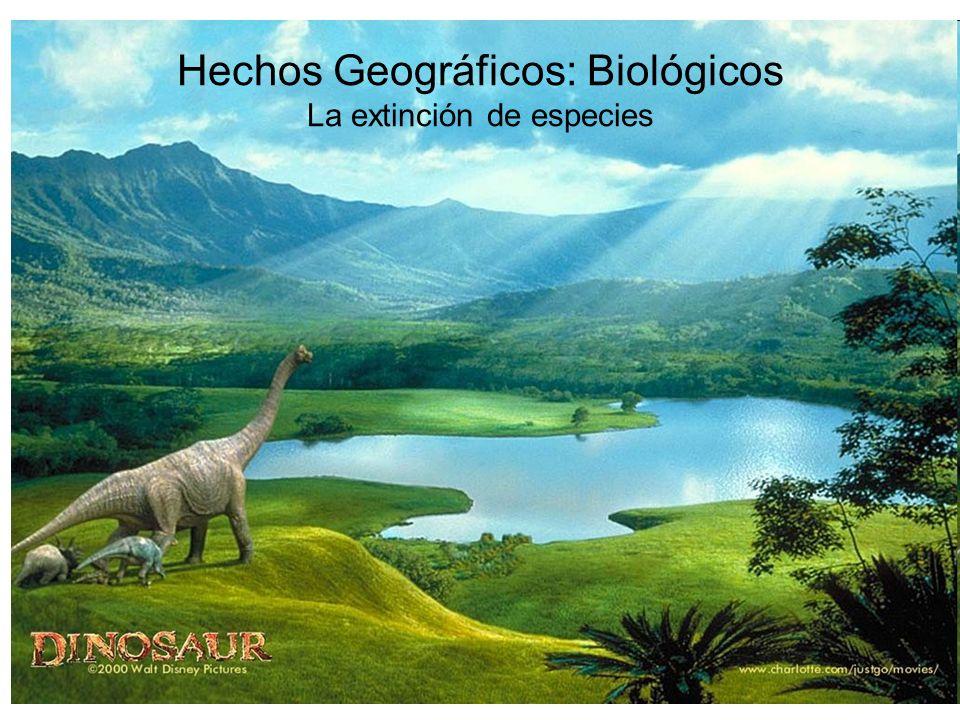 Hechos Geográficos: Biológicos La extinción de especies