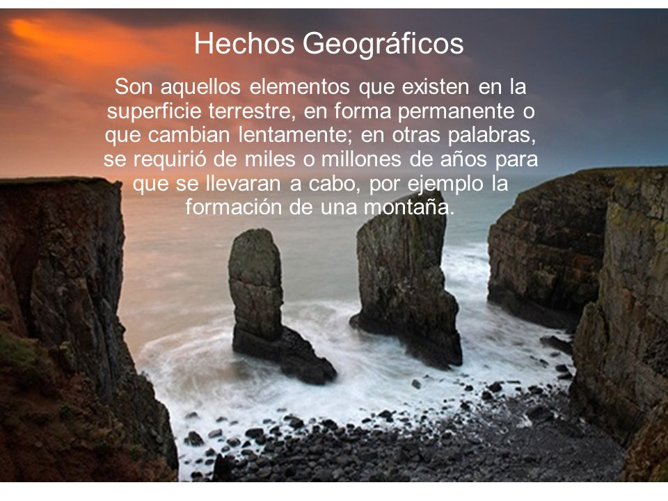 Hechos Geográficos