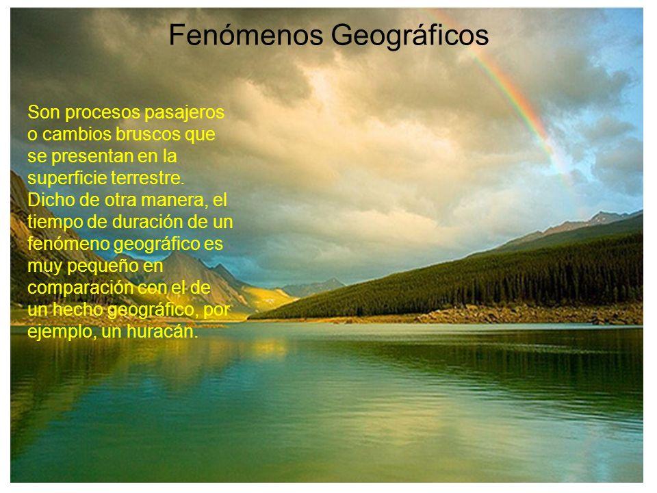 Fenómenos Geográficos