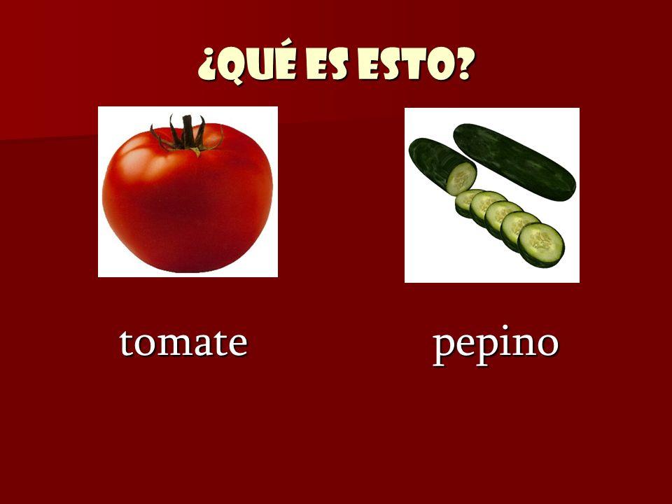 ¿Qué es esto tomate pepino