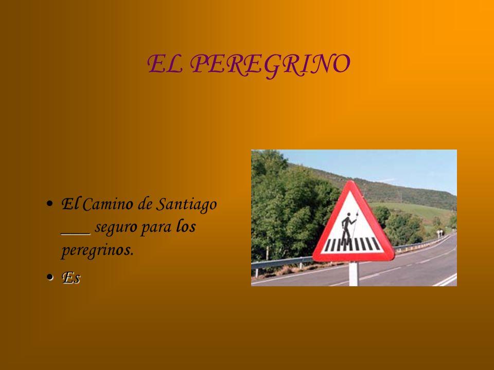 EL PEREGRINO El Camino de Santiago ___ seguro para los peregrinos. Es