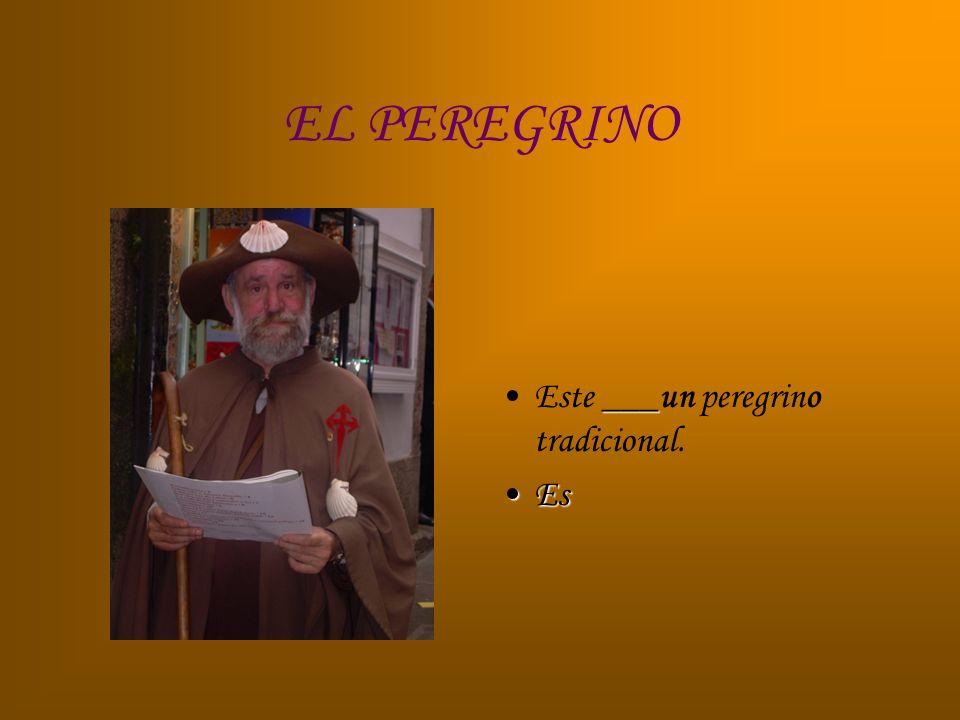 EL PEREGRINO Este ___un peregrino tradicional. Es