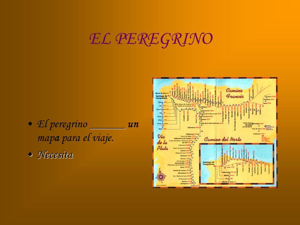 EL PEREGRINO El peregrino ______ un mapa para el viaje. Necesita