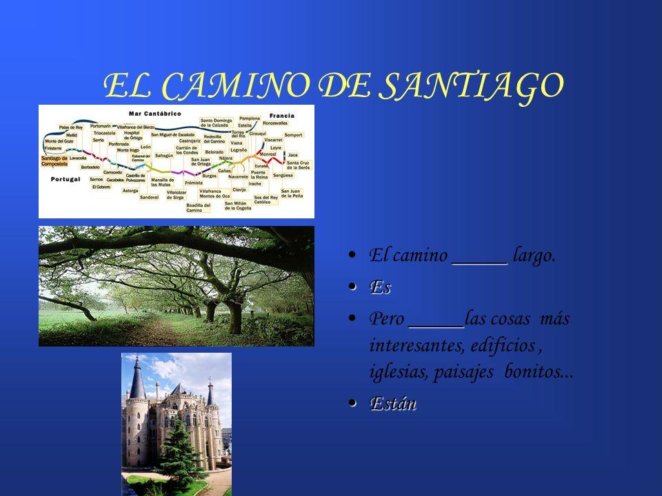 EL CAMINO DE SANTIAGO El camino _____ largo. Es