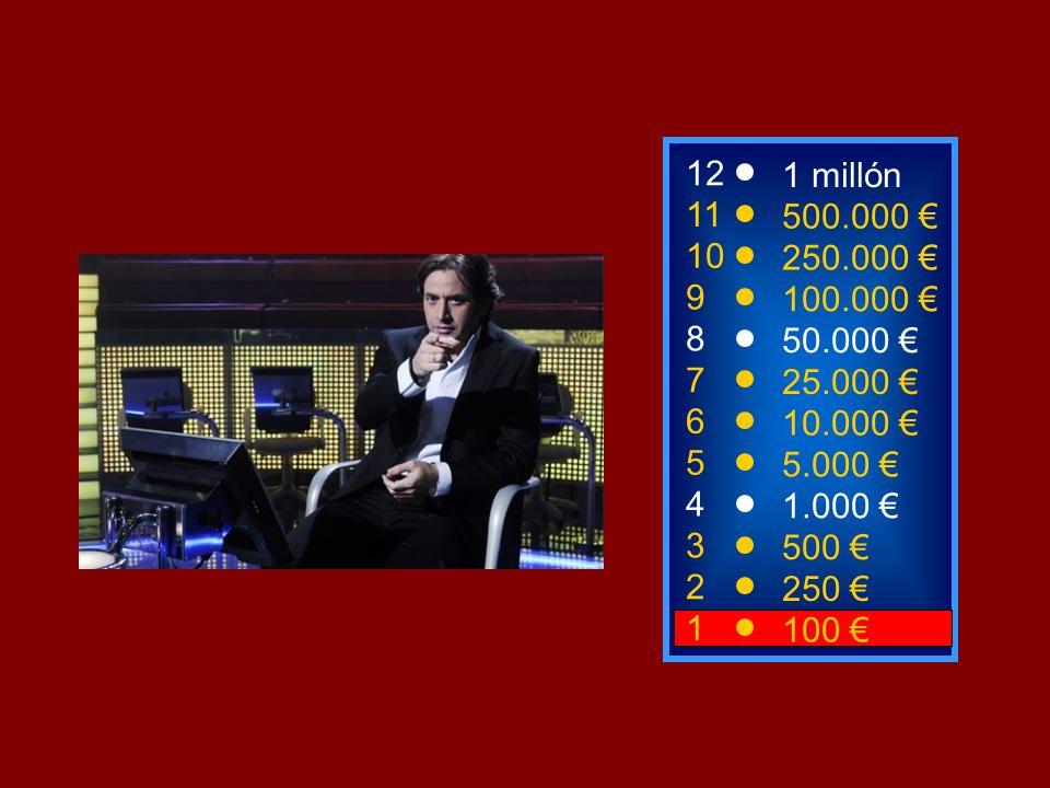 121 millón. 11. 500.000 € 10. 250.000 € 9. 100.000 € 8. 50.000 € 7. 25.000 € 6. 10.000 € 5. 5.000 €