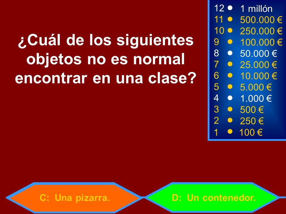 ¿Cuál de los siguientes objetos no es normal encontrar en una clase