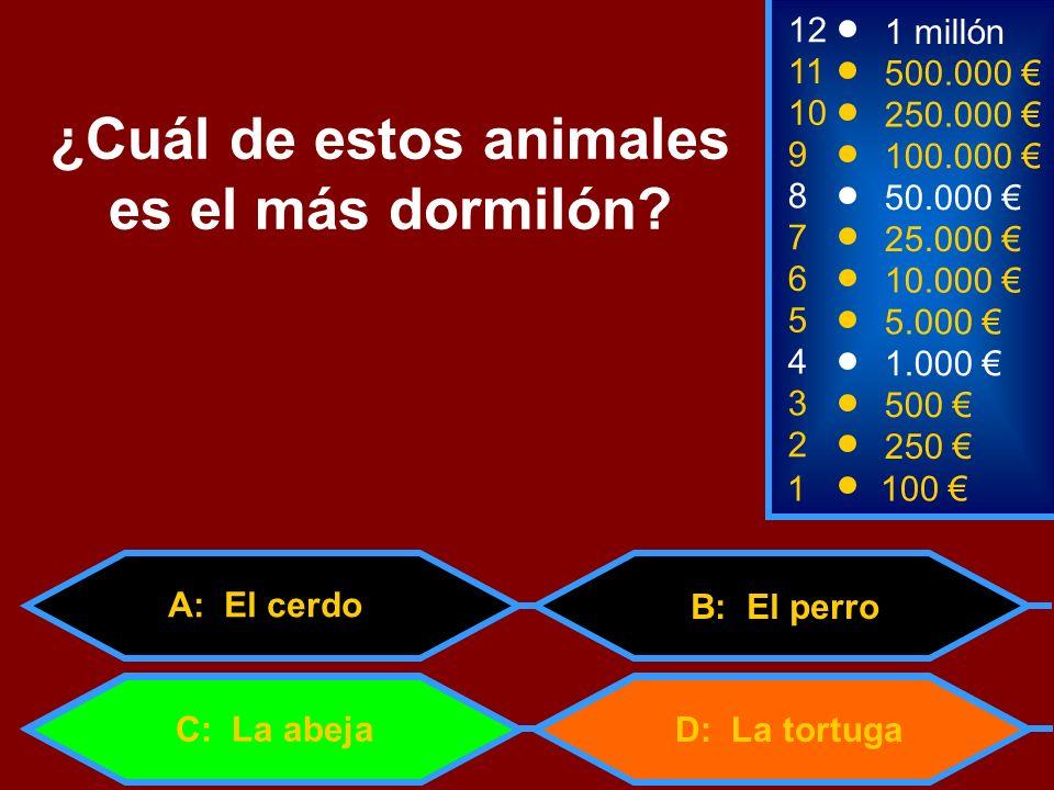 ¿Cuál de estos animales es el más dormilón