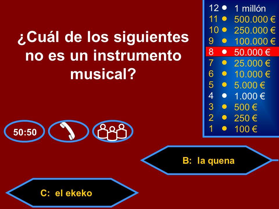 ¿Cuál de los siguientes no es un instrumento musical