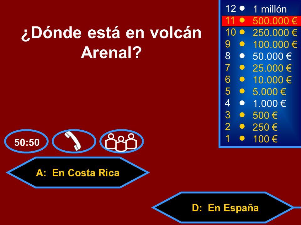 ¿Dónde está en volcán Arenal