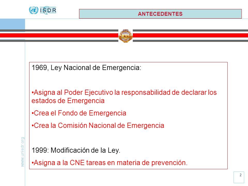1969, Ley Nacional de Emergencia: