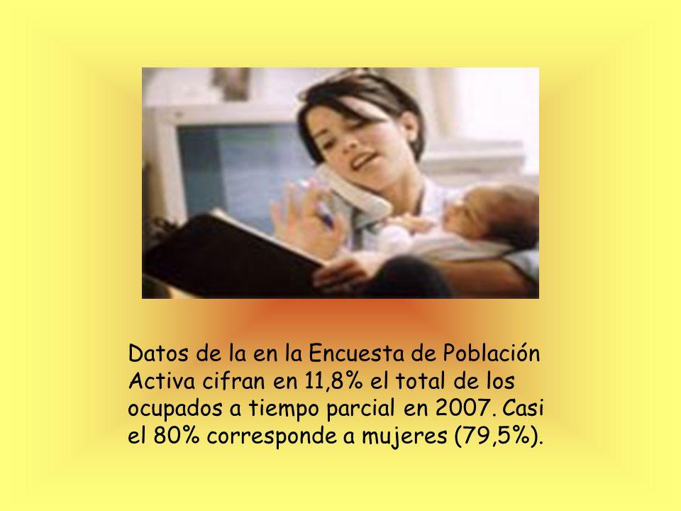 Datos de la en la Encuesta de Población Activa cifran en 11,8% el total de los ocupados a tiempo parcial en 2007.