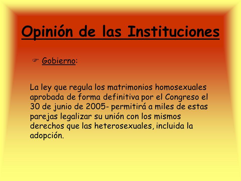 Opinión de las Instituciones