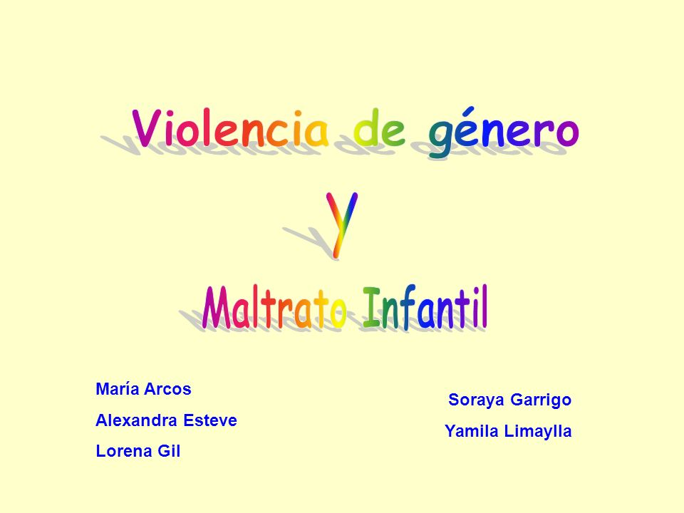Violencia de género Maltrato Infantil