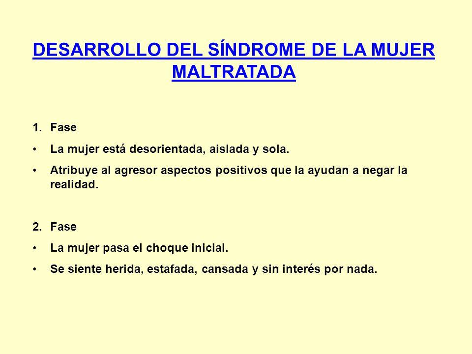 DESARROLLO DEL SÍNDROME DE LA MUJER MALTRATADA
