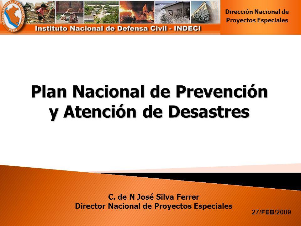 Plan Nacional de Prevención y Atención de Desastres