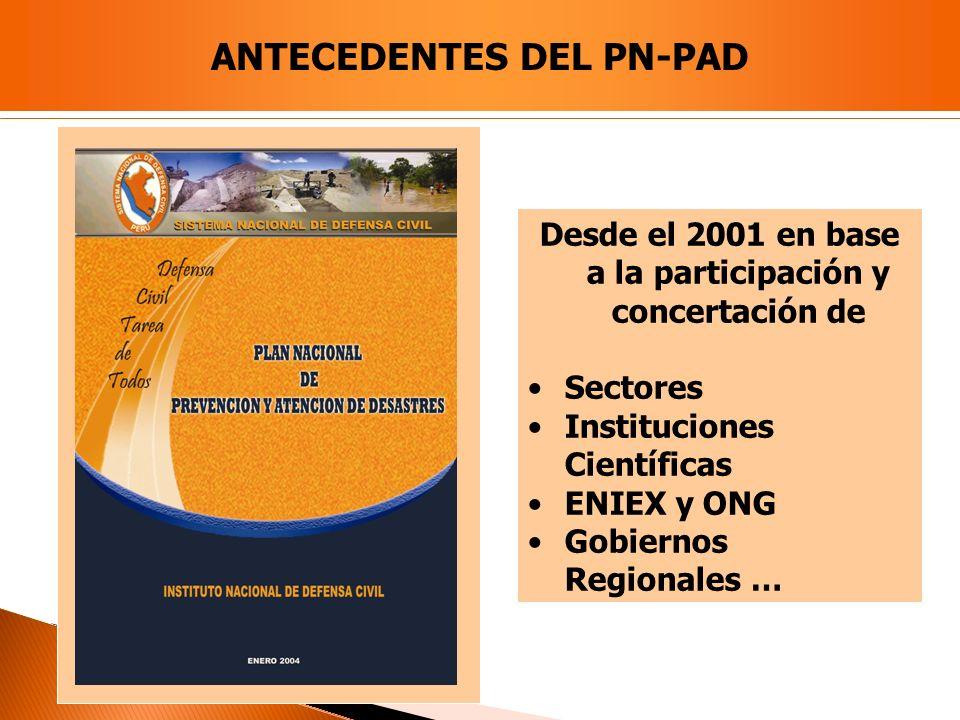 ANTECEDENTES DEL PN-PAD
