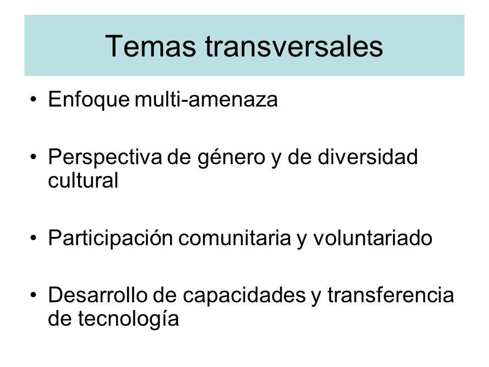 Temas transversales Enfoque multi-amenaza