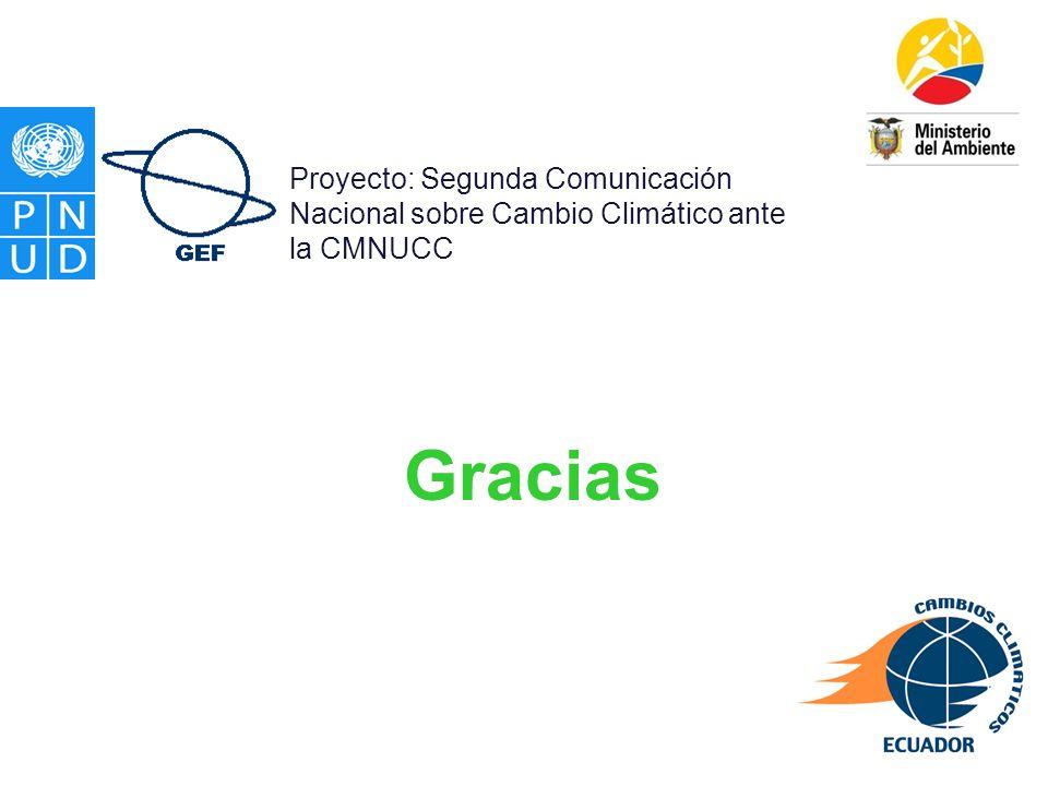 Proyecto: Segunda Comunicación Nacional sobre Cambio Climático ante la CMNUCC
