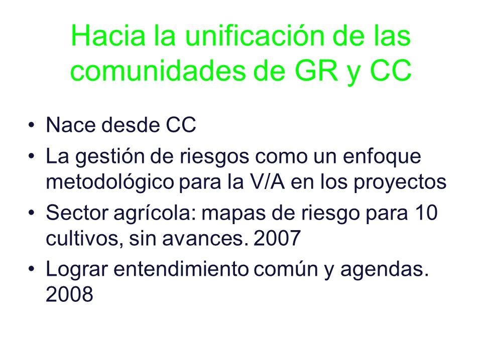 Hacia la unificación de las comunidades de GR y CC