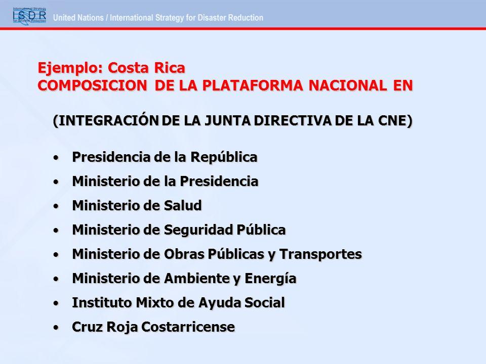 COMPOSICION DE LA PLATAFORMA NACIONAL EN