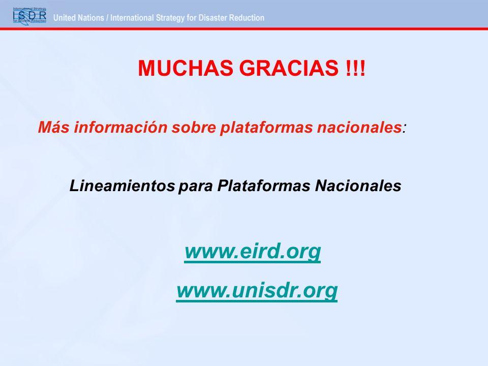 MUCHAS GRACIAS !!! www.unisdr.org