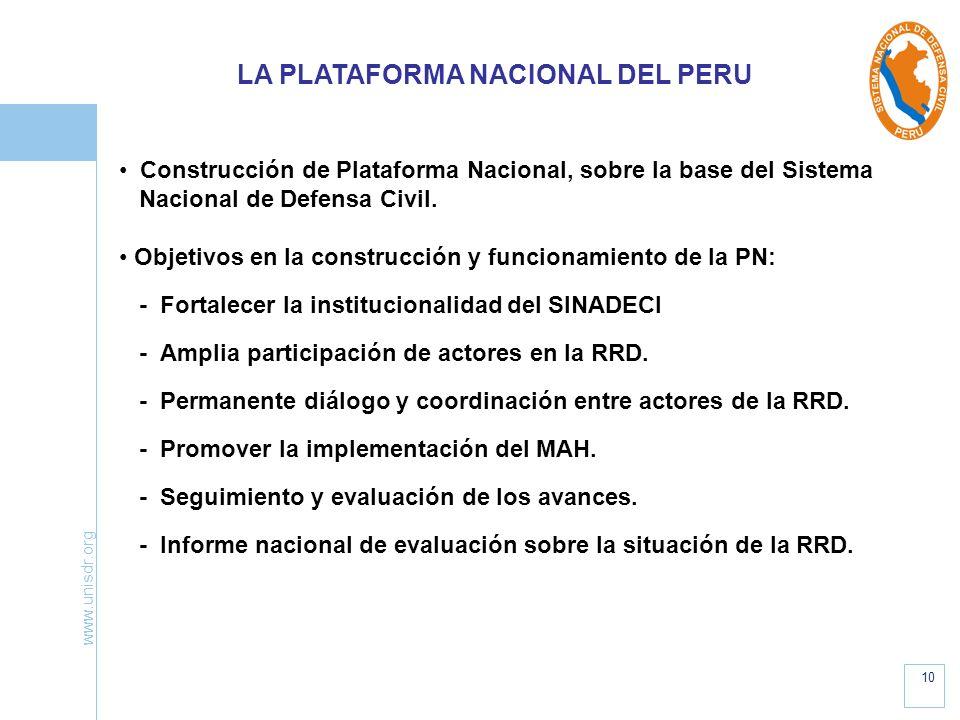 LA PLATAFORMA NACIONAL DEL PERU