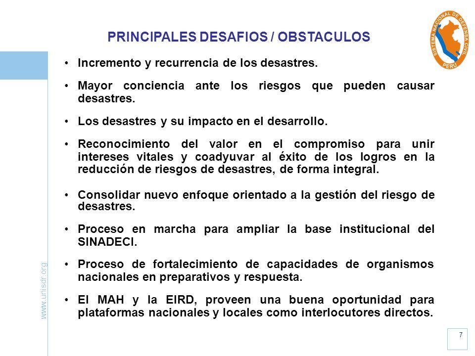 PRINCIPALES DESAFIOS / OBSTACULOS