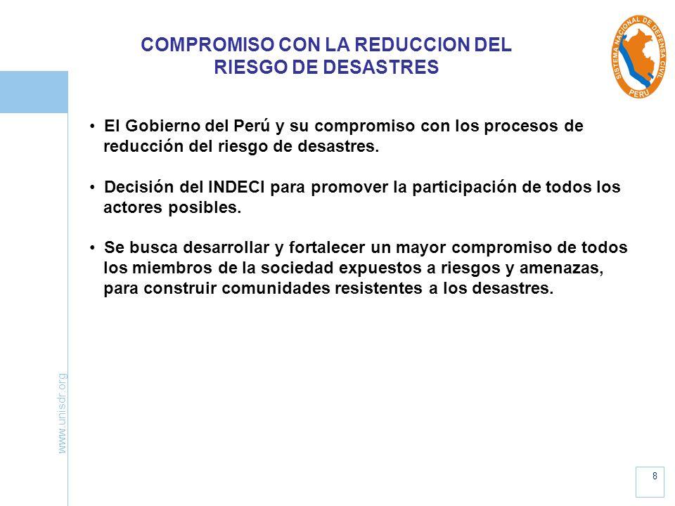 COMPROMISO CON LA REDUCCION DEL RIESGO DE DESASTRES