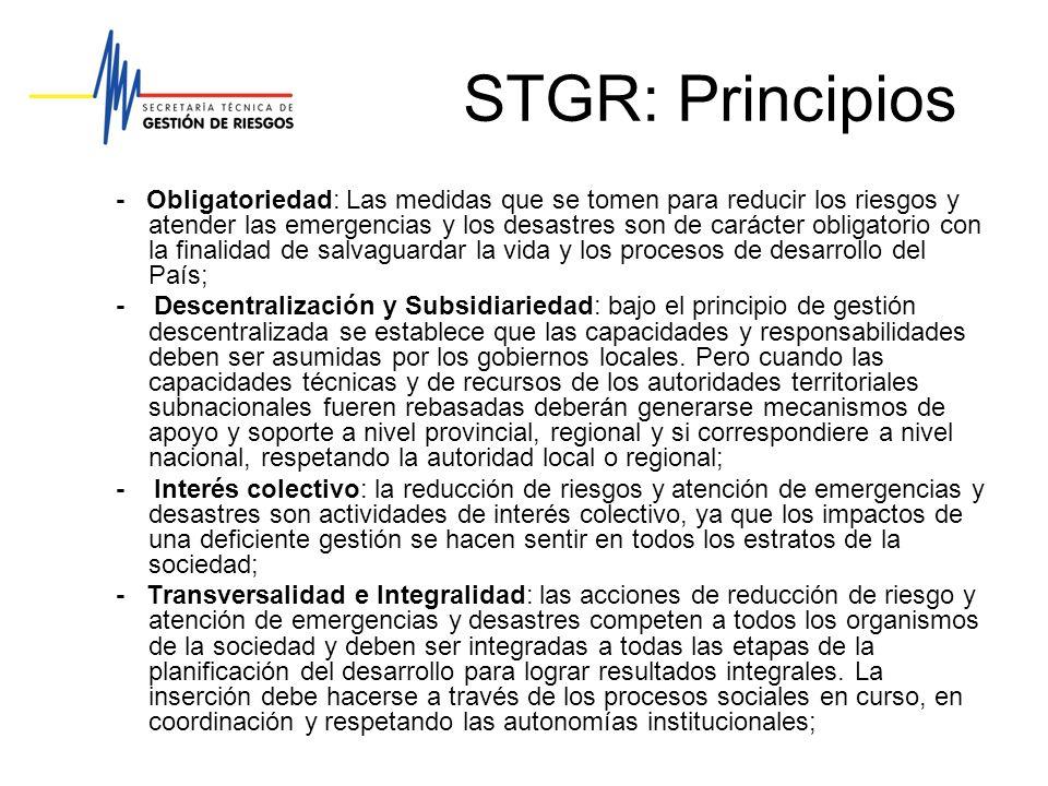 STGR: Principios
