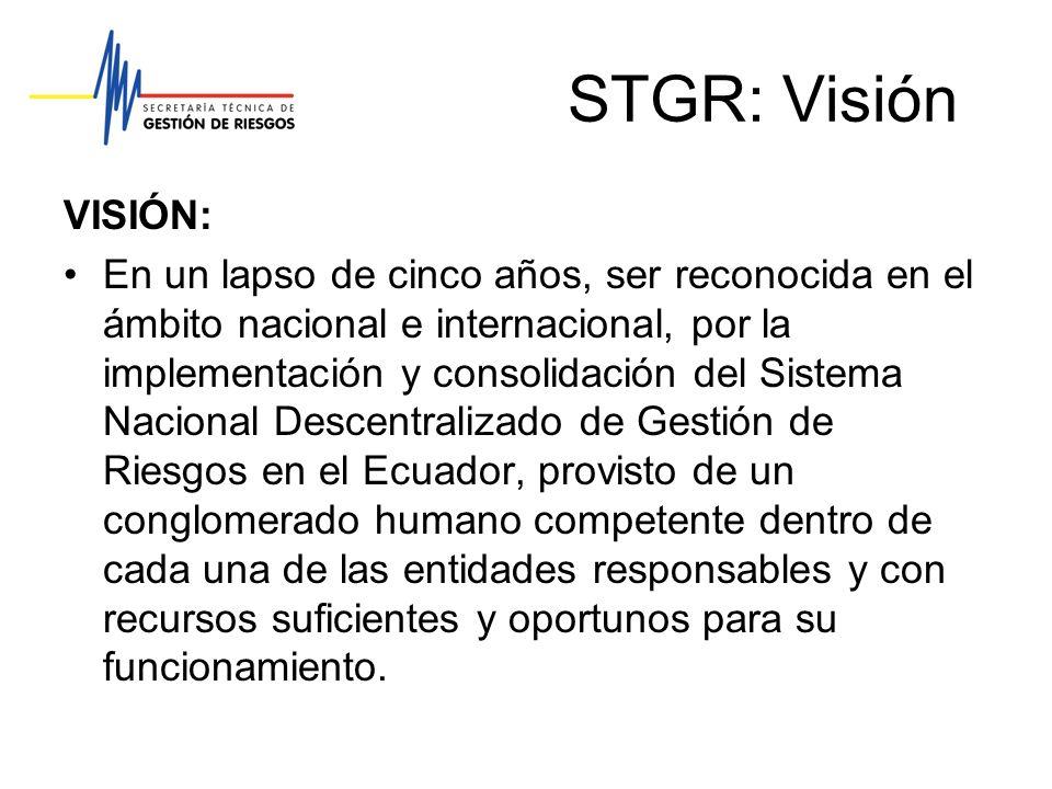 STGR: Visión VISIÓN: