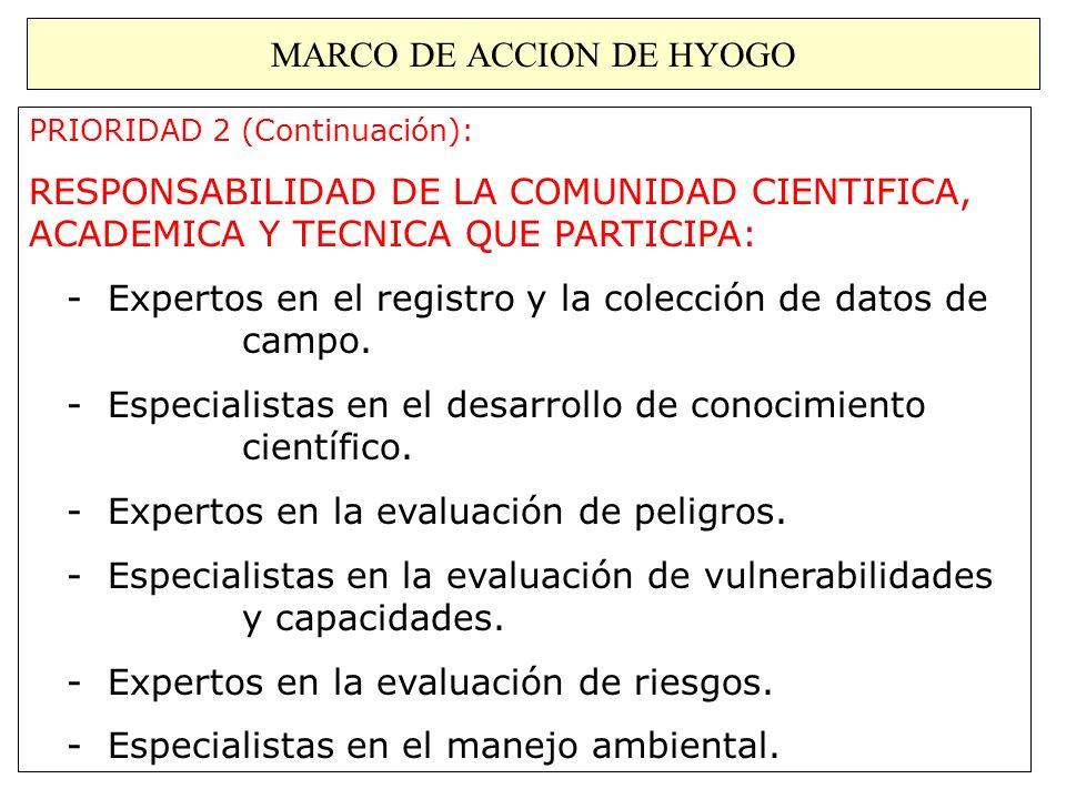 MARCO DE ACCION DE HYOGO