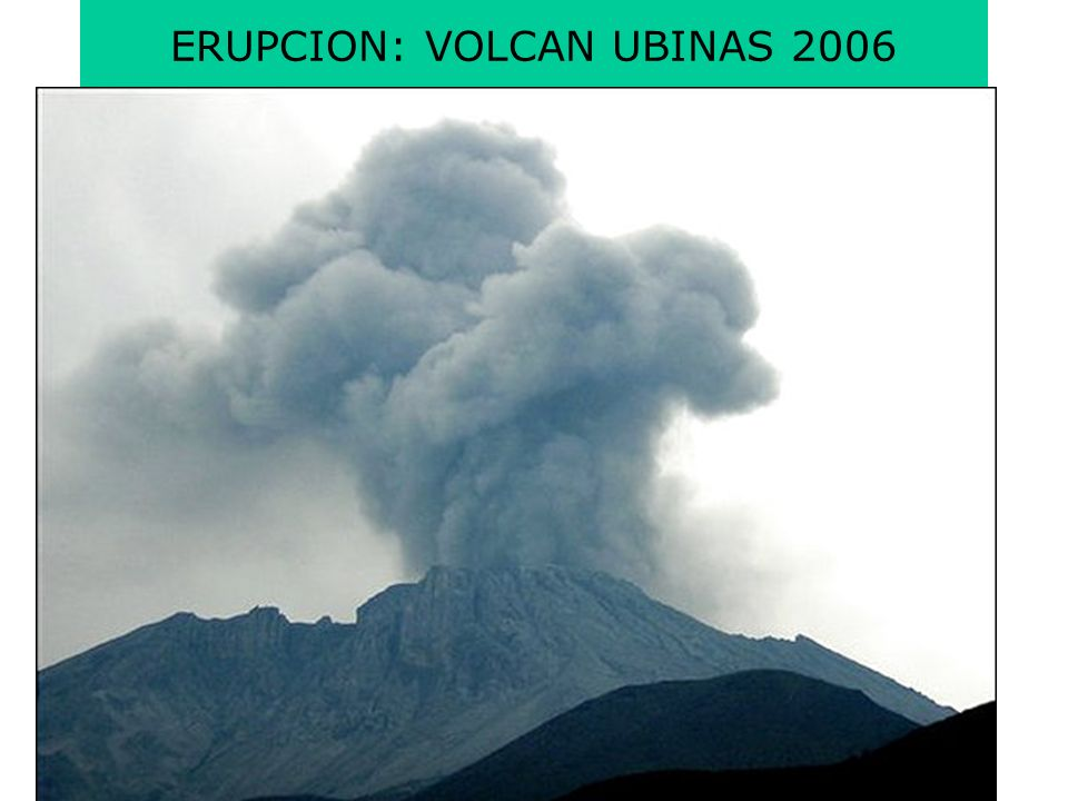 ERUPCION: VOLCAN UBINAS 2006