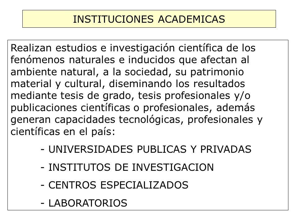 INSTITUCIONES ACADEMICAS