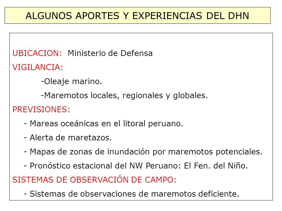 ALGUNOS APORTES Y EXPERIENCIAS DEL DHN