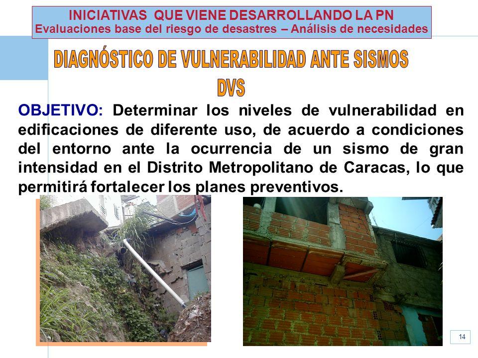 DIAGNÓSTICO DE VULNERABILIDAD ANTE SISMOS DVS