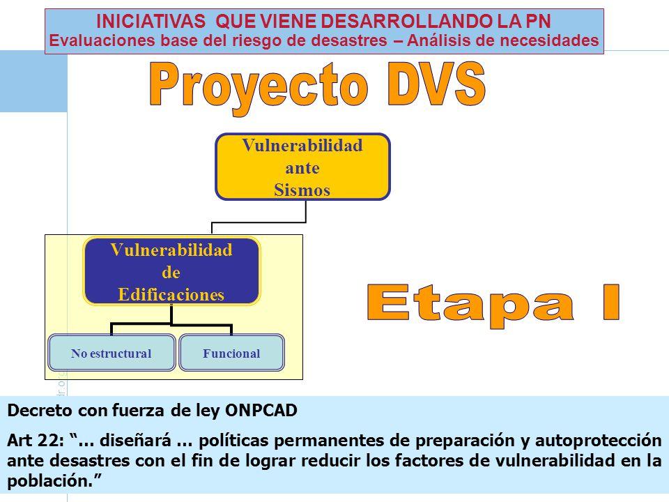 Proyecto DVS Etapa I INICIATIVAS QUE VIENE DESARROLLANDO LA PN
