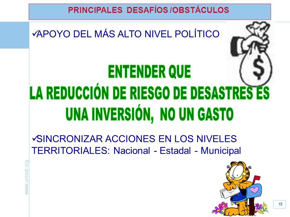 LA REDUCCIÓN DE RIESGO DE DESASTRES ES UNA INVERSIÓN, NO UN GASTO