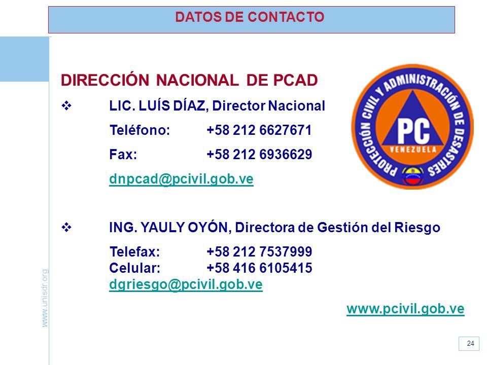 DIRECCIÓN NACIONAL DE PCAD