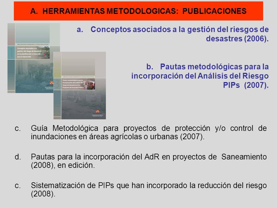 A. HERRAMIENTAS METODOLOGICAS: PUBLICACIONES