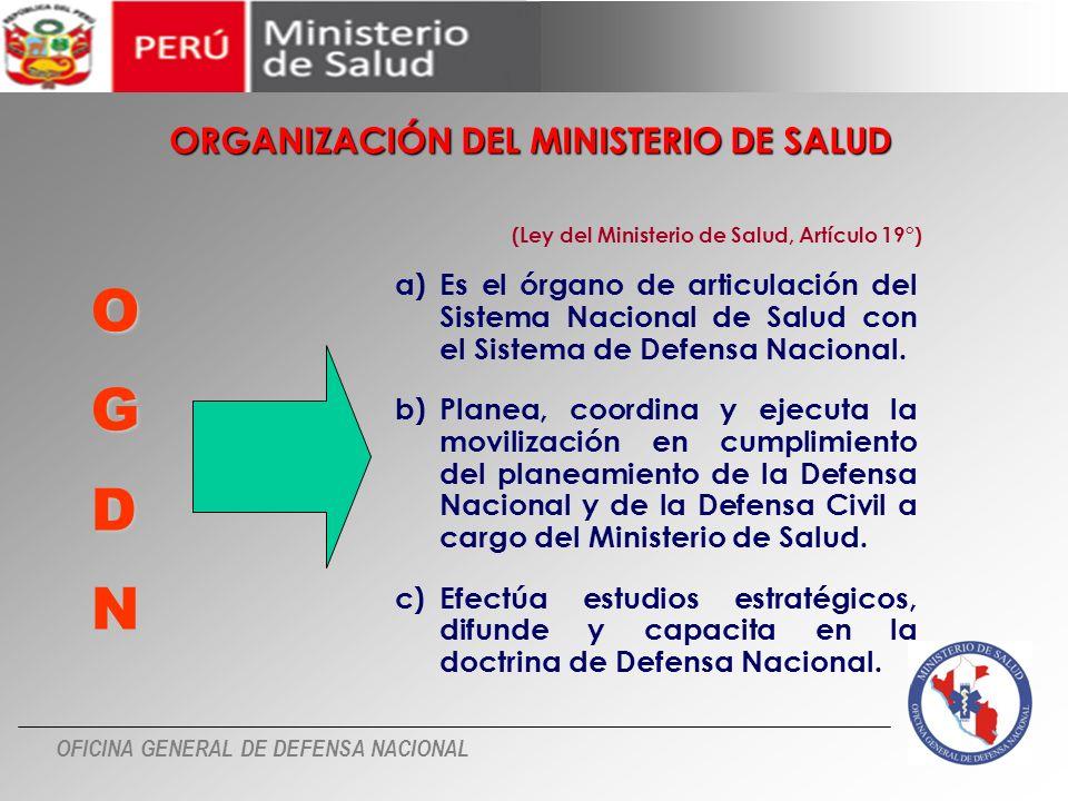 O G D N ORGANIZACIÓN DEL MINISTERIO DE SALUD