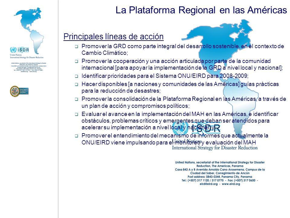 La Plataforma Regional en las Américas