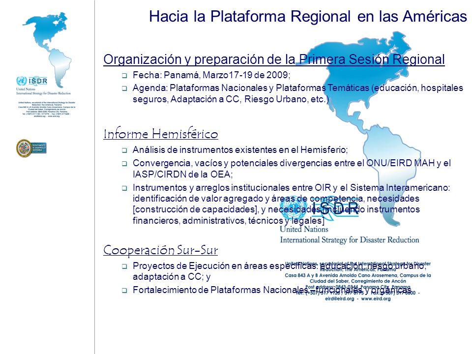 Hacia la Plataforma Regional en las Américas