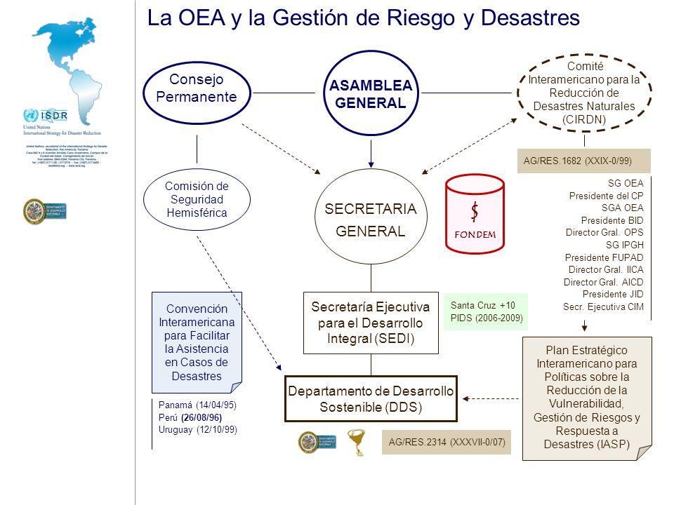 La OEA y la Gestión de Riesgo y Desastres