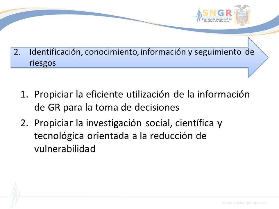 Identificación, conocimiento, información y seguimiento de riesgos