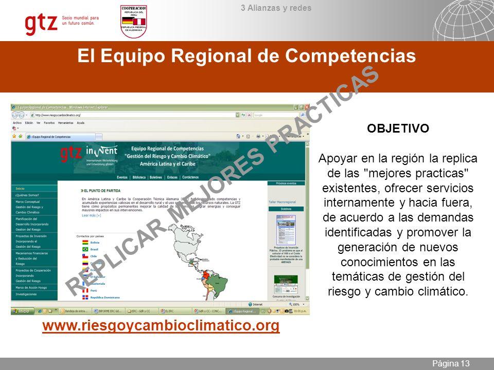 El Equipo Regional de Competencias